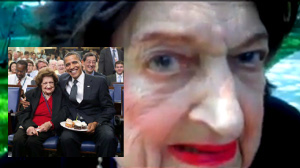 Rabbi David F. Nesenoff interviewed Helen Thomas on the White House Lawn on American Jewish Heritage Celebration Day at the White House.