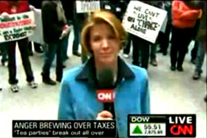 During a Tea Party in Chicago, a CNN reporter harassed the participants instead of reporting objectively like any good reporter should. She definitely deserves to be fired after this atrocious display of partisanship during her coverage of the event.