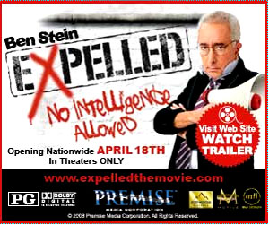 EXPELLED: No Intelligence Allowed starring comedian, actor, author and presidential speechwriter Ben Stein will be released in theaters Spring 2008.