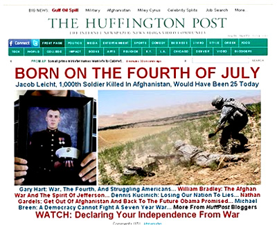 Sick. Huffpo Pimps Photo of Dead Soldier For Independence Day