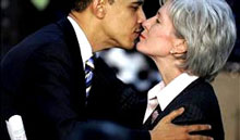 "Roman Catholic who supports abortion rights, Sebelius' nomination prompted angry reactions from anti-abortion groups outraged by her ties to Dr. George Tiller, a late-term abortion provider in Wichita, Kan. Groups including Operation Rescue and Concerned Women for America vowed to mobilize against her nomination. The American Life League said it was rolling out a ""STOP Sebelius"" petition and asking other anti-abortion groups to join. ( Photo source: Townhall.com)"