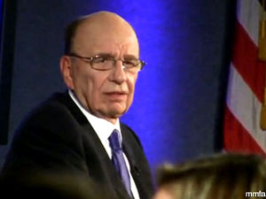 """I don't think we should be supporting the tea party, or any other party,"" Murdoch said during an interview Tuesday for The Kalb Report at the National Press Club. Murdoch's statement was in response to a question from the audience asking about promotions for the tea party movement that ran on Fox Business Network."