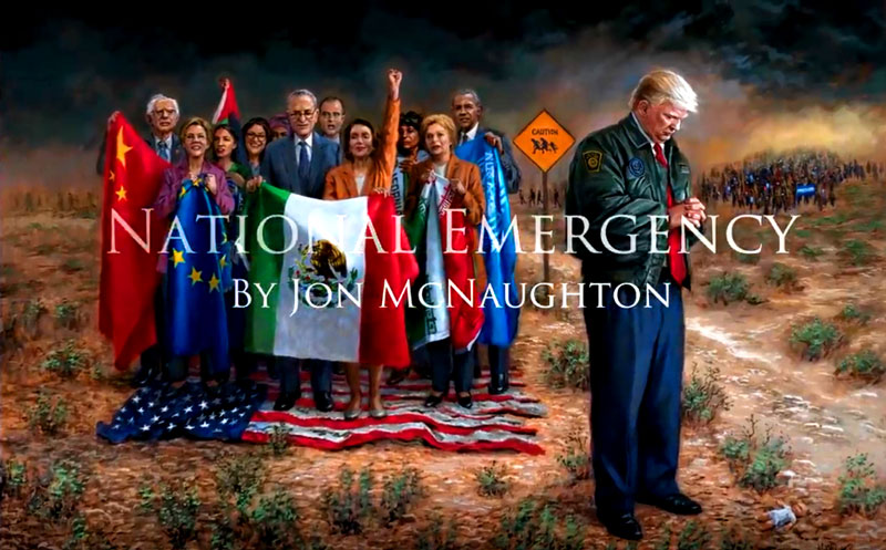 """Jon McNaughton is an established artist from Utah whose new paintings have attracted the international attention of millions over the last few years. Highly detailed religious and patriotic subjects are the focus of his paintings. The artist's experiences and faith are the inspiration for his work."" - Jon McNaughton"