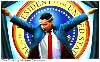"On his 100th day in office, President Obama will be ""crowned"" in messianic imagery at New York City's Union Square."