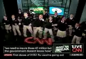 CNN at it againm allowing kids to promote Obama's healthcare bill.