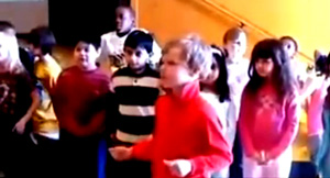 "Remember last year when that video of school kids singing about Obama appeared on the net to creep out parents? Here's a new one of school kids being taught to sing praise of Obama. No one knows yet where this took place, or what school."" - Source copy - www.fireandreamitchell.com"