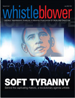 "Levin often uses the term ""soft tyranny"" to explain the modus operandi of the Obama administration and Congress, and weighs in with a powerful, in-depth Whistleblower exclusive, titled ""The antidote to tyranny: Time for urgent action, as 'liberty once lost is rarely recovered.'"""