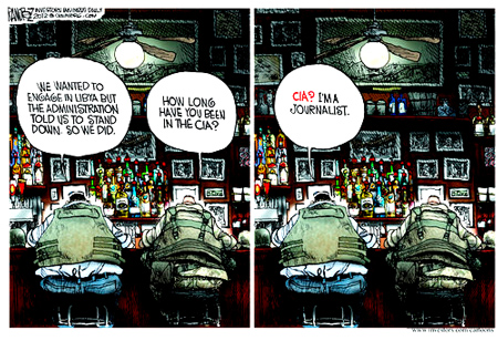 http://www.gocomics.com/michaelMr. Ramirez is a Lincoln Fellow and has won several awards during his career, including the 1994 Pulitzer Prize, the UCI Medal from the University of California, Irvine and the Sigma Delta Chi Awards in 1995 and 1997. He has been the editorial cartoonist of the Los Angeles Times, the Commercial Appeal and USA Today, and is nationally syndicated in over 450 newspapers around the world.