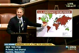 Frank Poe reports that there are 192 countries in the world with America giving Foreign Aid to over 150 of them, which is 78% of countries around the globe.