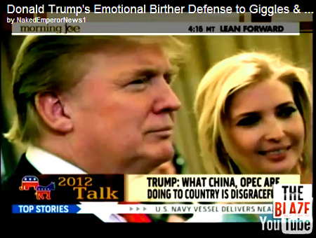'Major Chance This Guy Has Violated The Constitution' Donald Trump's Emotional Birther Defense to Giggles & Smirks of The Morning Joe Panel.