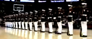 Go to www.Our.Marines.com to see the platoon's new website. This video shows the platoon's 2007 performance at a Denver Nuggets game.