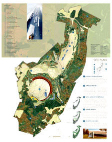 Flight 93 architectural drawing of the planned site as to be seen from the air.